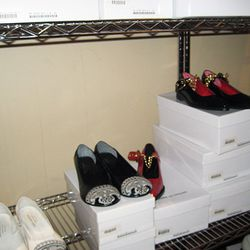Women's shoes, $120 to $150.