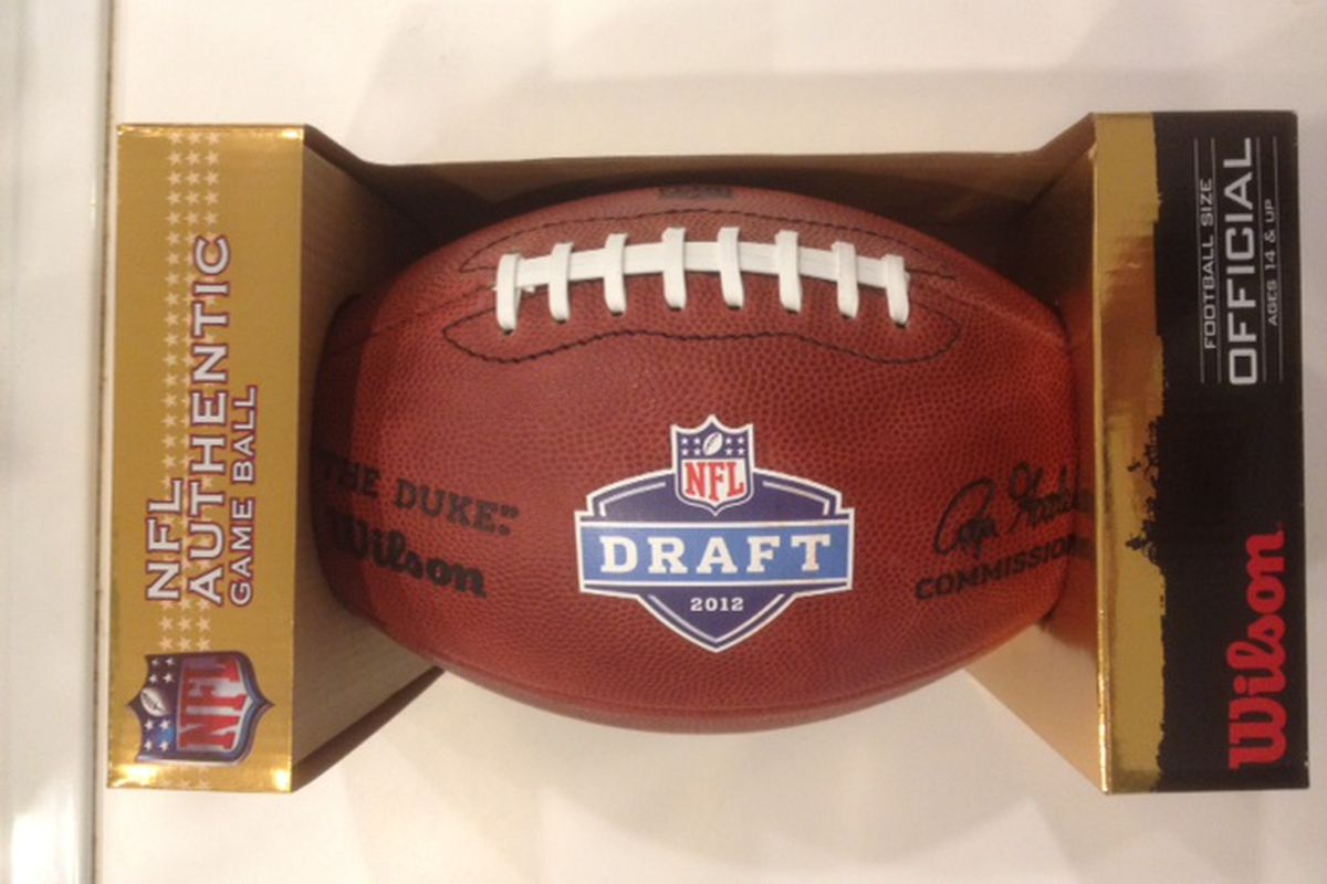 Wilson Commemorative NFL Draft Football