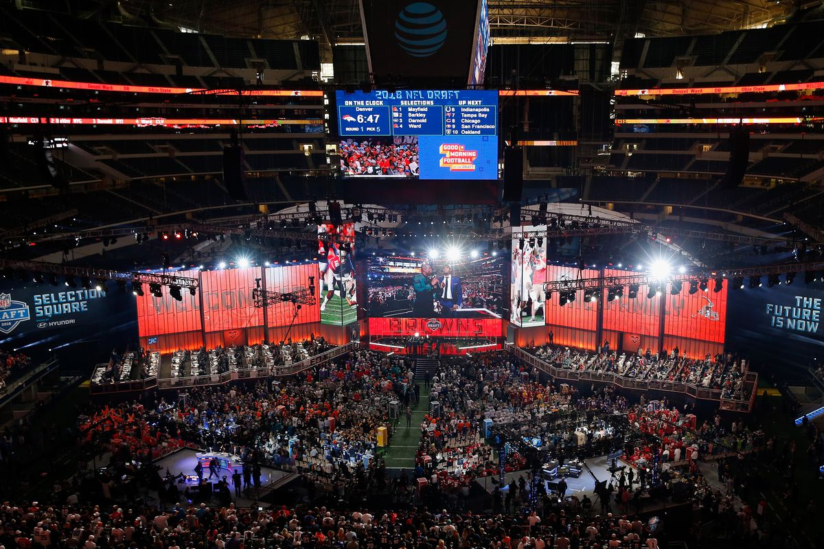 A general view during the first round of the 2018 NFL Draft at AT&T Stadium on April 26, 2018 in Arlington, Texas.