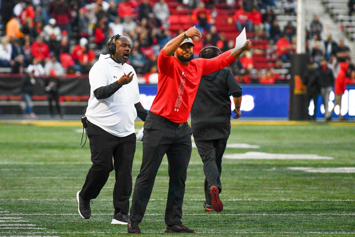 Maryland football coaching staff vs Indiana