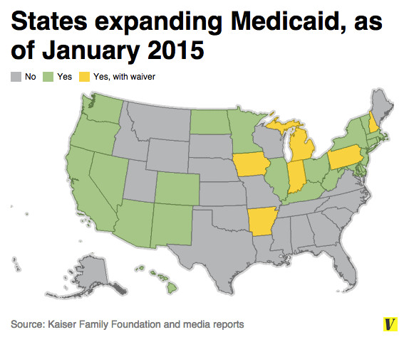 Medicaid Expansion Map on