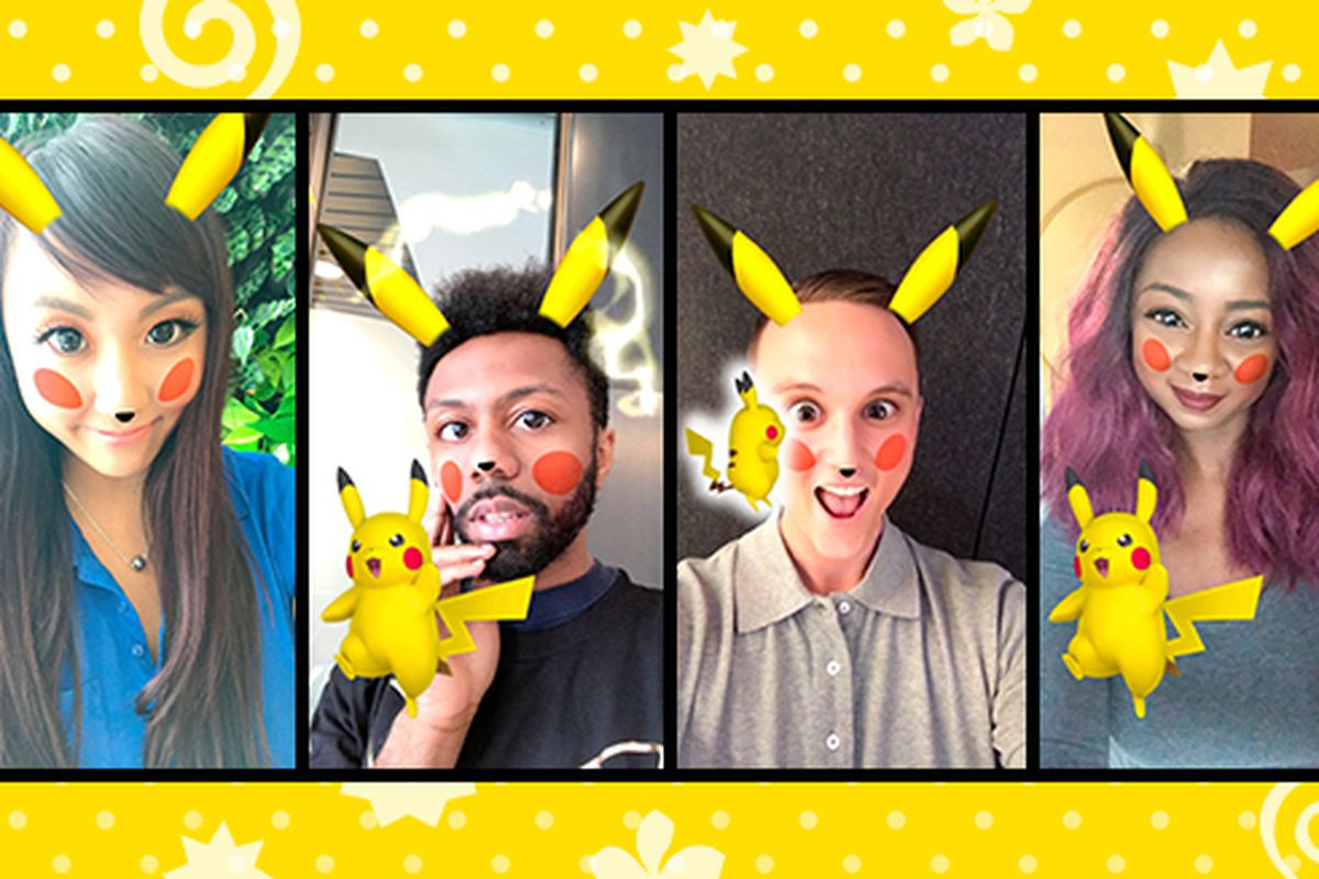 Snapchat adds a Pikachu filter for your kawaii pokémon needs