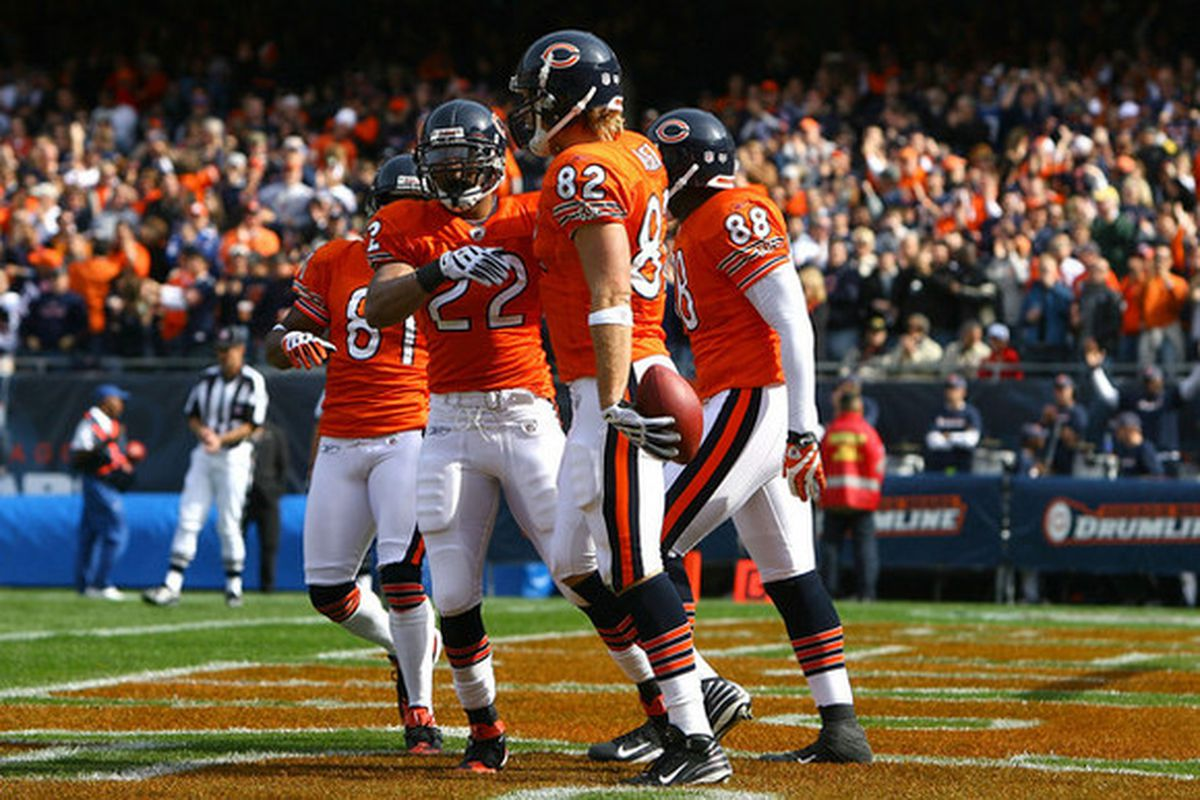 8b14741db9f The orange uniforms are back for the first time since 2012. Getty Images.  The Chicago Bears will be wearing orange jerseys ...
