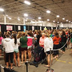 Once indoors, you're funneled through a second line before you're allowed to enter.