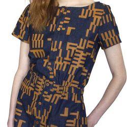 <b>Dusen Dusen</b> denim rake elastic waist dress, $55 (was $202)