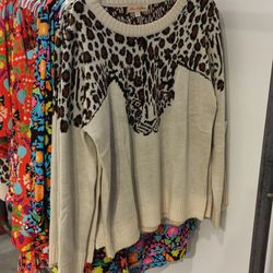 Leopard Pullover, $170
