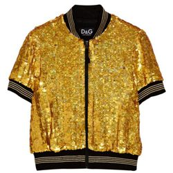"""D&G Sequin embelilshed short-sleeve <a href=""""http://www.theoutnet.com/product/217442"""" rel=""""nofollow"""">jacket</a>. Original price $1,860; now $279."""