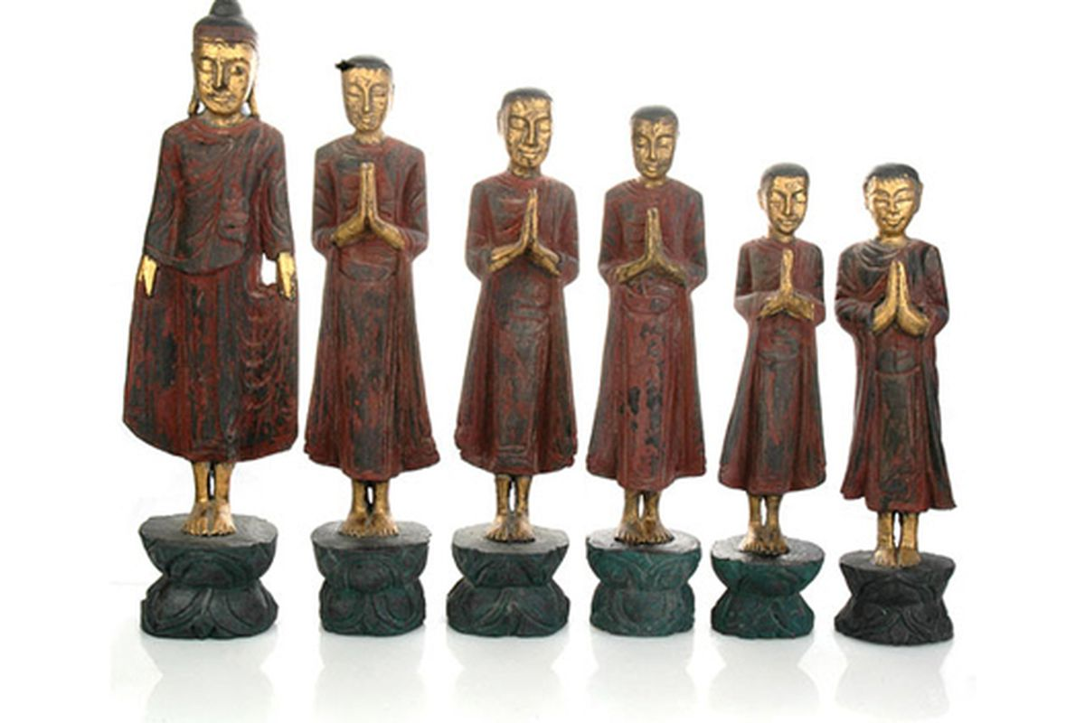 """Set of praying monks via <a href=""""http://www.satyajewelry.com/catalog/home-home-decor-c-26_98.html?page=1&amp;products_id=1037"""">Satya</a>"""