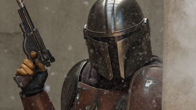Pedro Pascal as The Mandalorian in Disney Plus' new Star Wars series