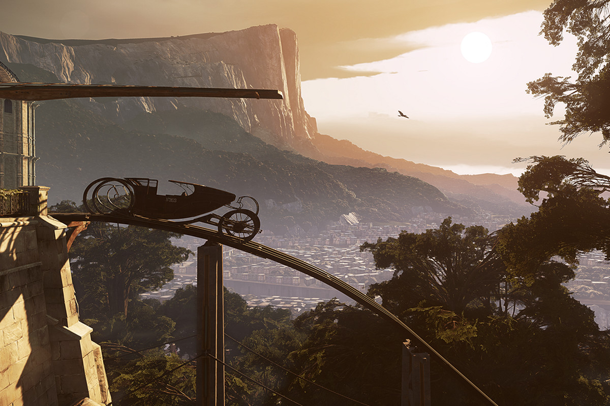 Landscape still from Dishonored 2