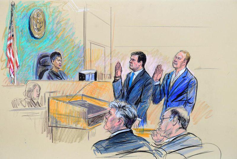 Manafort trial illustration