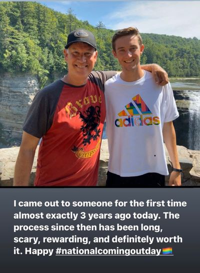 John Speicher and his dad
