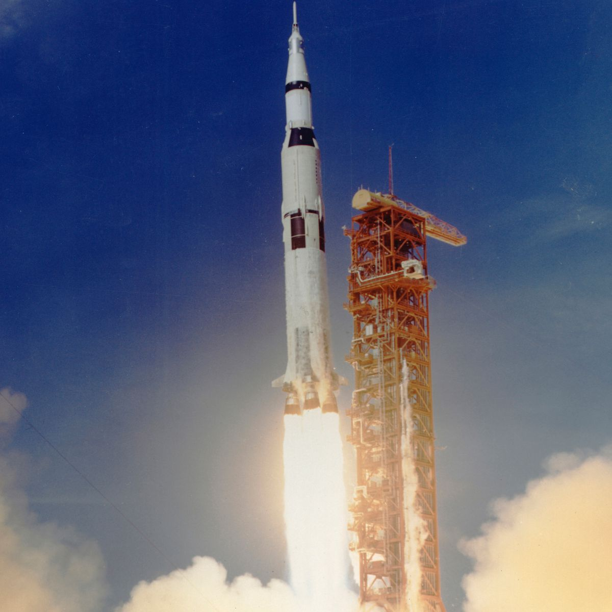 Apollo 11 lifts off