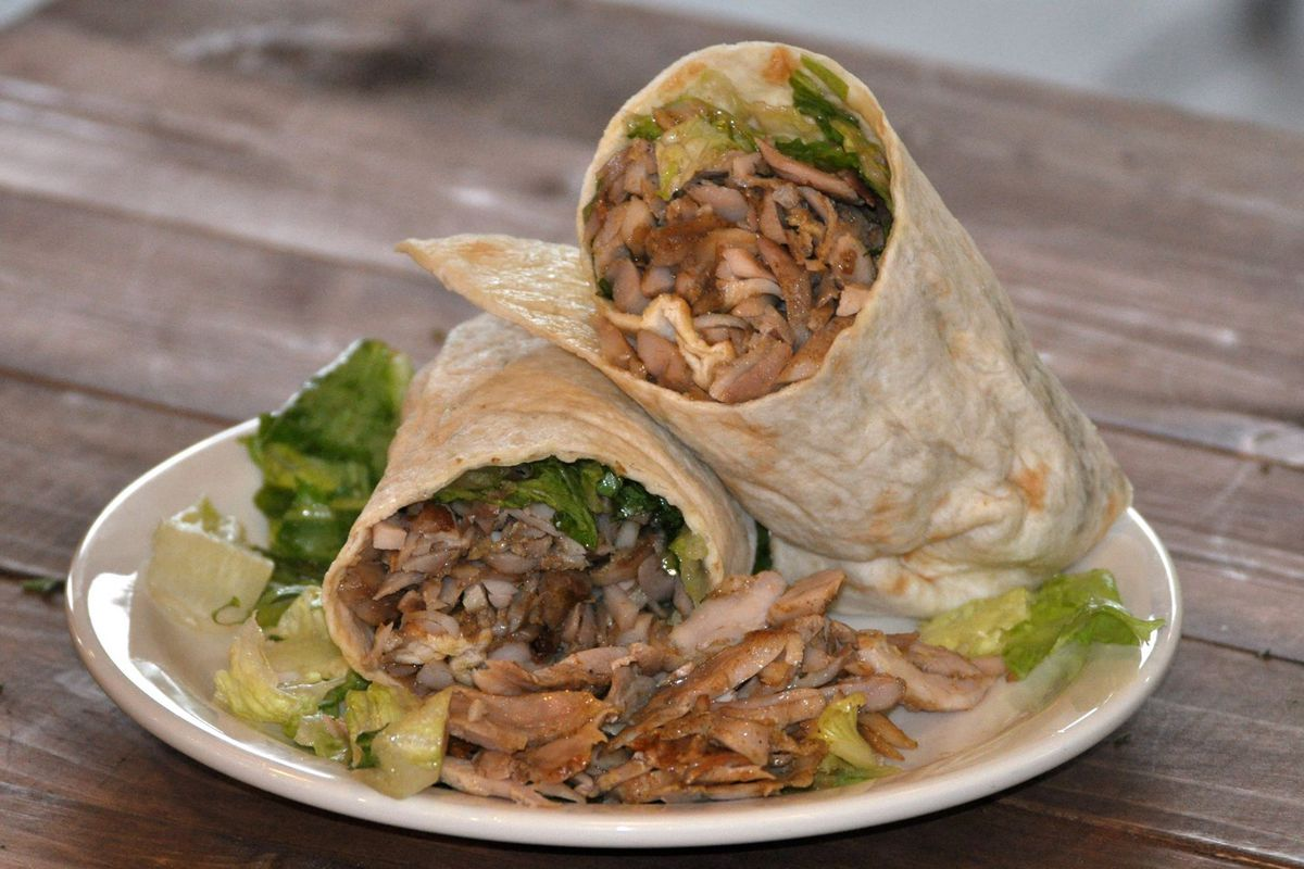 Chicken shawarma wrap from Pita Grille, now closed in Buckhead