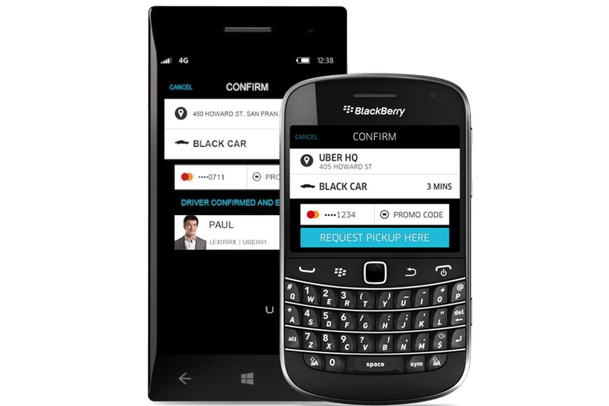 Uber Windows Phone BlackBerry