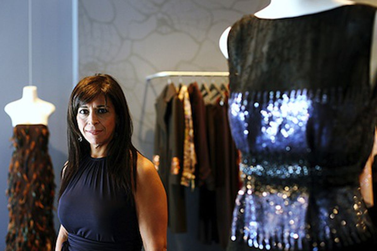 Maria Pinto in her now closed West Loop boutique - Photo by Now Public