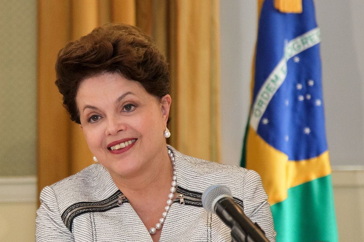 """Brazilian President Dilma Rousseff signed the """"internet constitution"""" into law on Wednesday"""