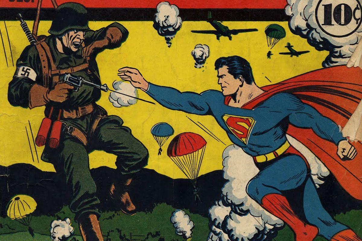 Resultado de imagen para superman hits nazi