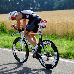Timo Bracht of Germany competes during the bike leg of Challenge Roth on July 20, 2014 in Roth, Germany. (Photo by Lennart Preiss/Getty Images)