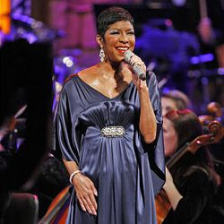 Singer Natalie Cole performs Friday at the annual Christmas concert at the Conference Center.