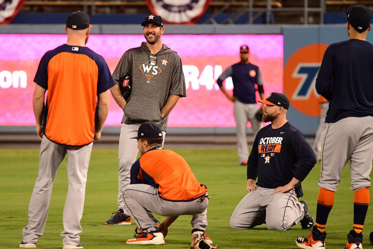 World Series - Workout Day - Dodger Stadium