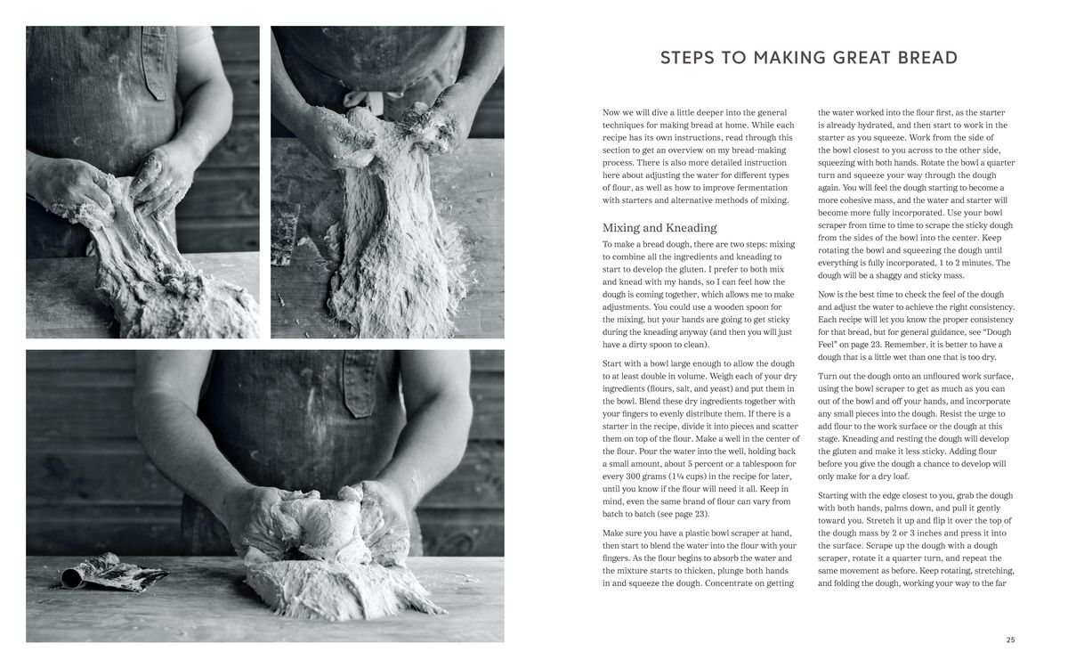 Steps on making bread from Bread on the Table