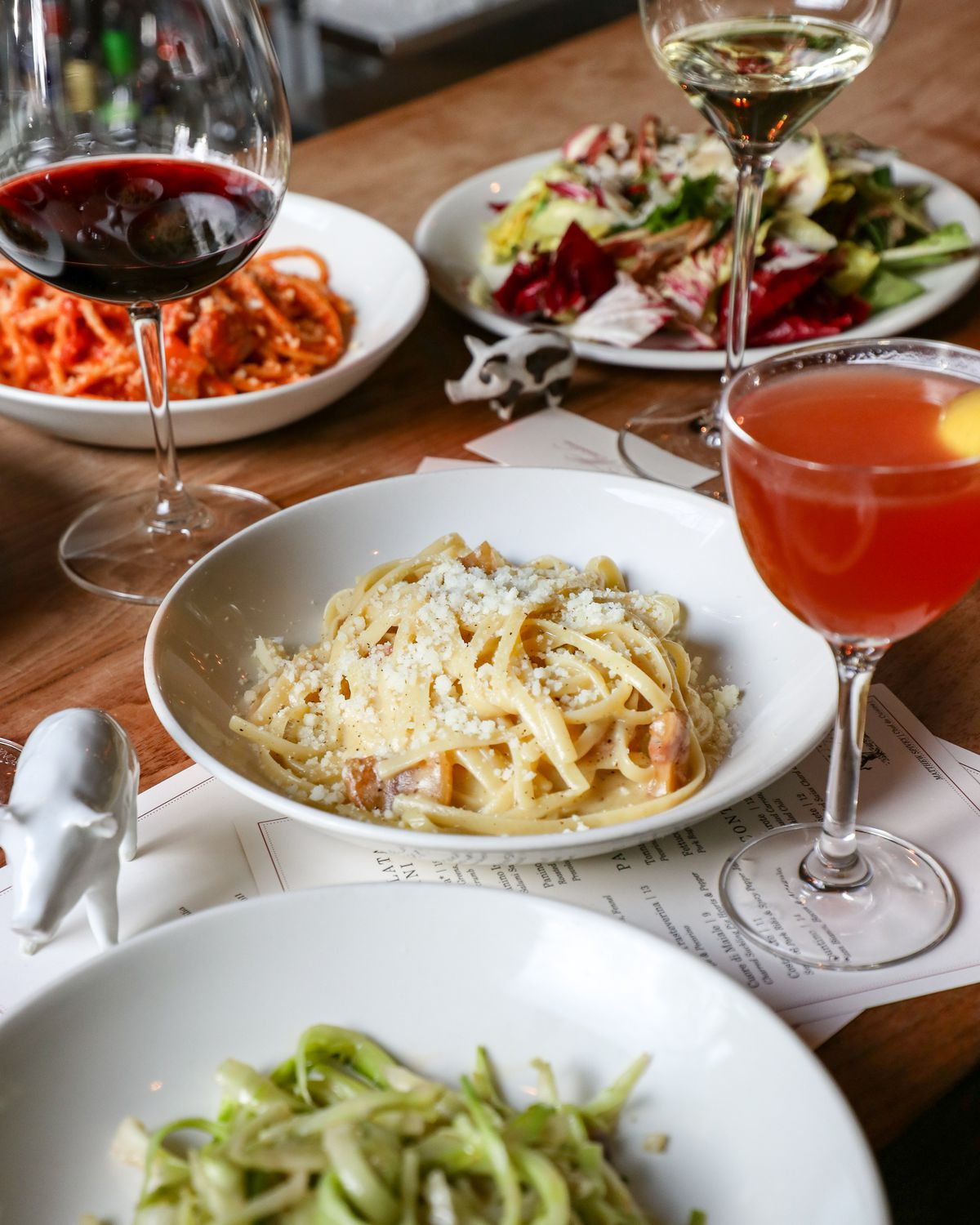Sample dishes from Maialino Mare