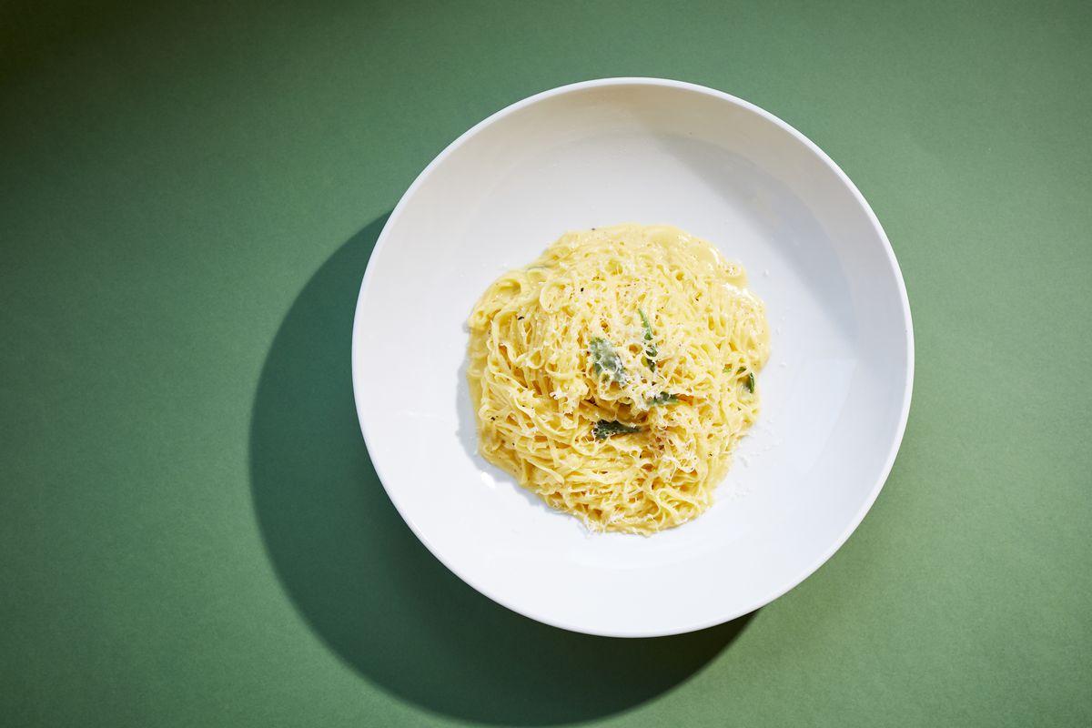 Burro e Salvia pasta at a new London pasta restaurant on Shad Thames, Legare