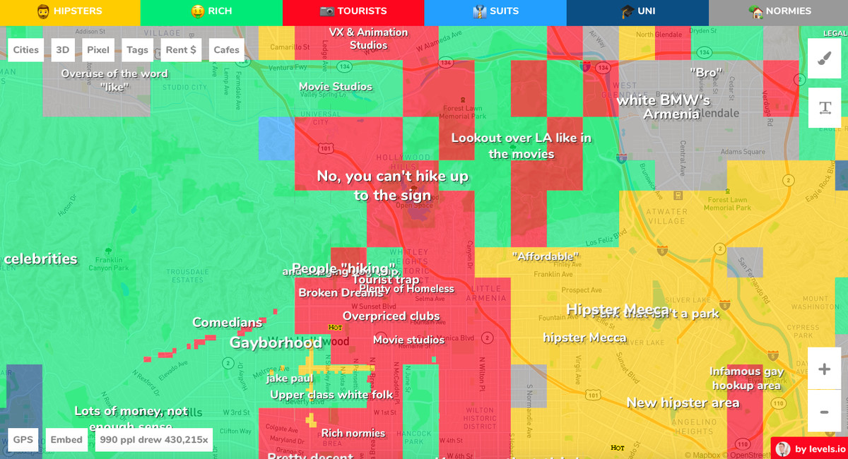 Bad Areas Of Los Angeles Map.Hoodmaps Map Of Los Angeles Neighborhoods Is Cringeworthy Curbed La