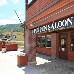Pig Pen Saloon sits at the base of the Park City Mountain Resort,  Wednesday, July 2, 2014, in Park City.