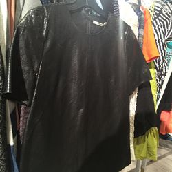 J Brand leather top, $225 (from $1,495)