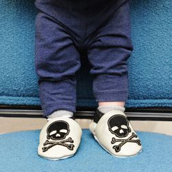 Sourpuss skull shoes, $24 at Psychobaby