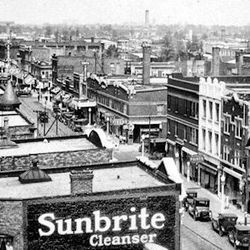 A look at Clark Street in Andersonville in the 1920's   Provided by The Edgewater Historical Society