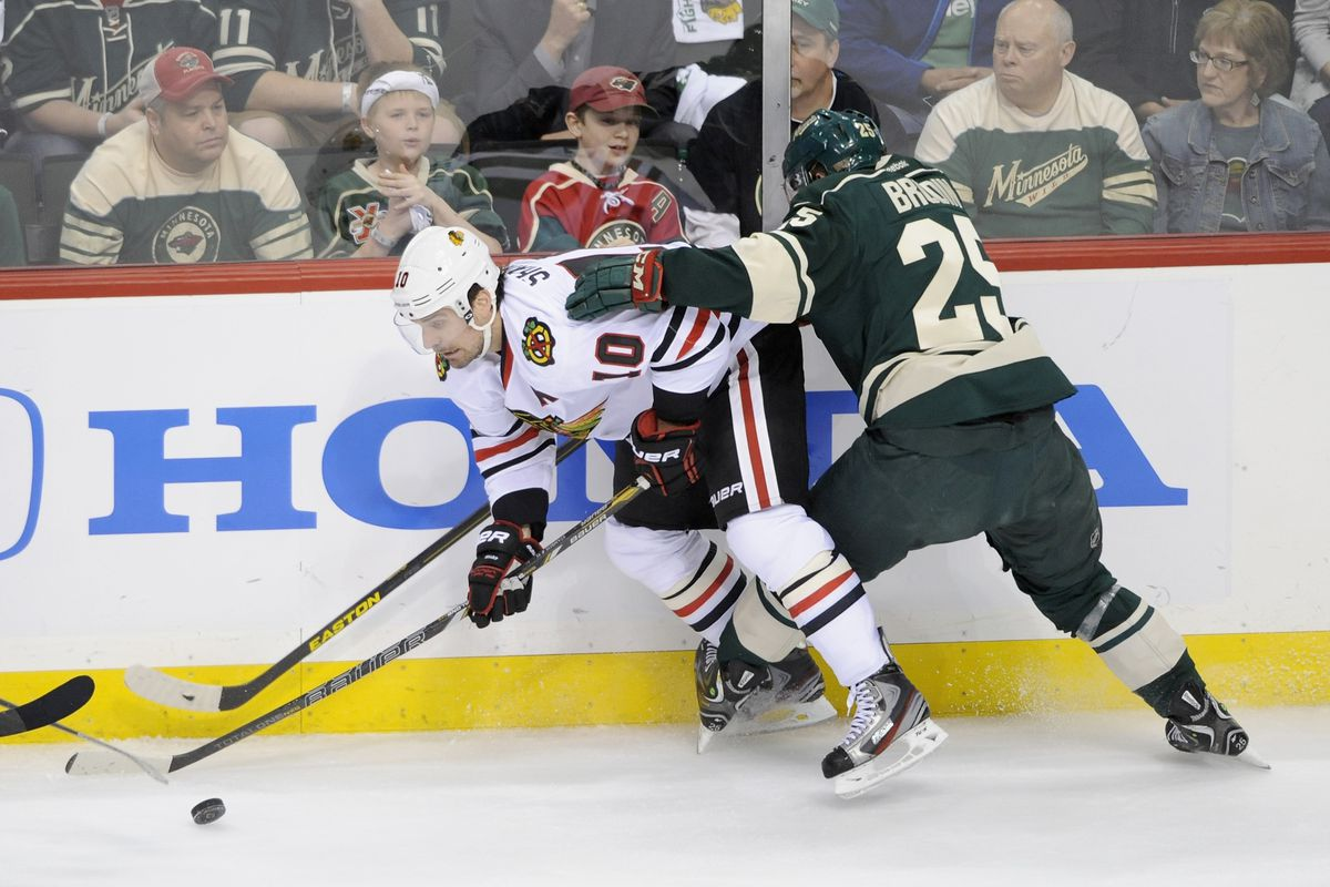Not even Swedish Baby Kidstrom could stop Patrick Sharp and the Blackhawks.