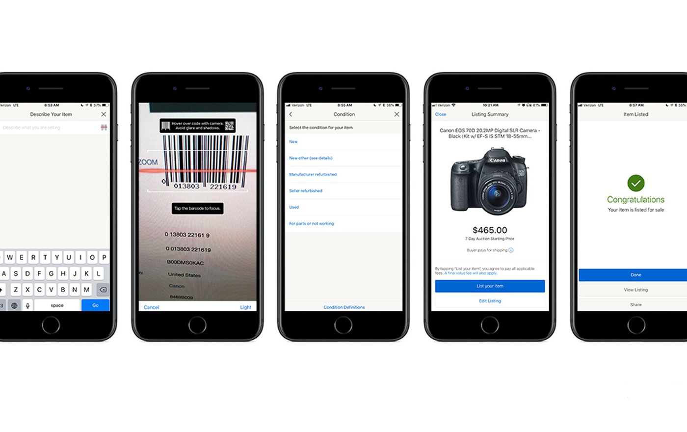 Ebay Now Lets Sellers Autofill Listings By Scanning Product Barcodes The Verge