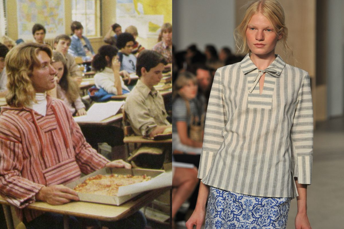 Left: Spicoli, Fast Times at Ridgemont High, 1982; Right: Creatures of the Wind spring 2015