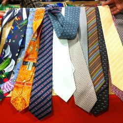 Ties, already in disarray by 9:30am.