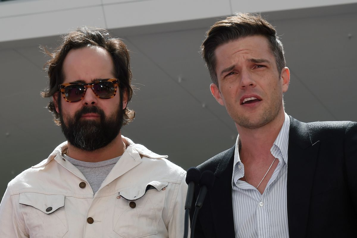 Ronnie Vannucci and Brandon Flowers of the Killers