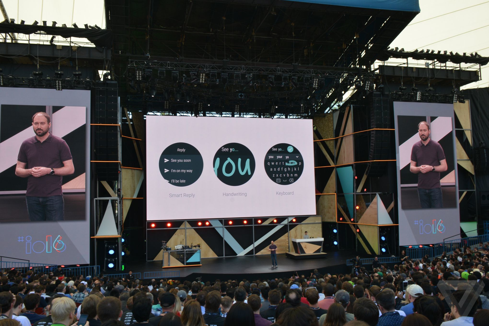 Android Wear 2.0 at Google I/O 2016 announcement photos