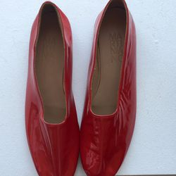 Martiniano red patent glove shoes, $195 (were $405)