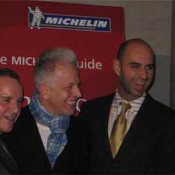 Mayor Daley, Blackbird's Donnie Madia and Eduard Seitan, Jean-Luc Naret