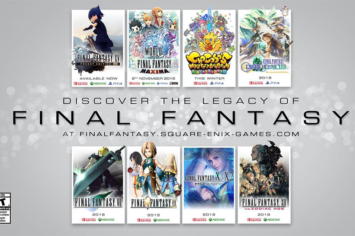 Final Fantasy 7 Final Fantasy 9 and Final Fantasy 10 are all ing