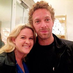 """""""Great night at Tracy Anderson's opening #chrismartin #coldplay #gwyneth #workout #tracyanderson"""" - <a href=""""http://instagram.com/p/XtpDehqSfc/""""target=_blank"""">@kirstytv</a>"""