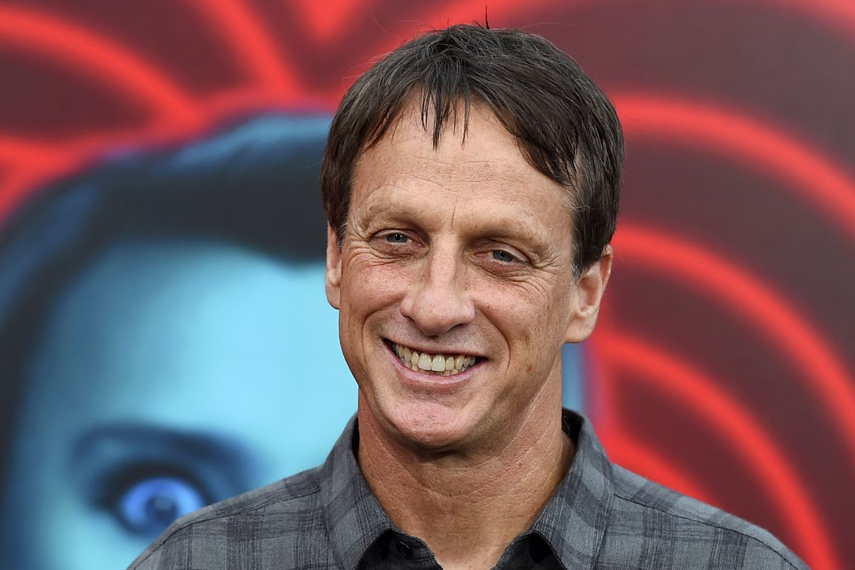 Tony Hawk gave 100 vials of blood to be used forlimited-edition skateboard decks.