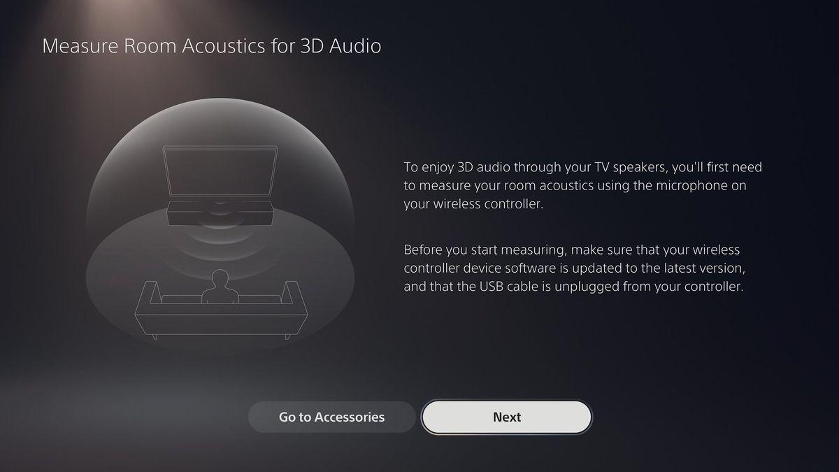 PS5 3D audio room acoustics setup