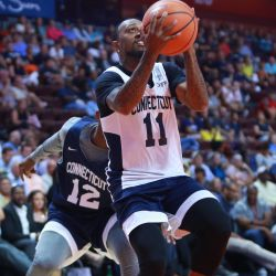 Ryan Boatright goes in for a layup.