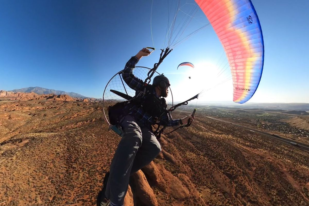 Jeff Hunt, a southern Utah father of two, survived but suffered extensive injuries in a paramotor crash west of St. George on Friday, Jan. 1, 2021. He is pictured on Sept. 27, 2020.