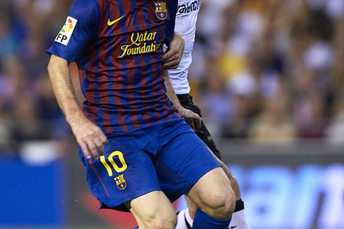 Not the best day at the office for Lionel Messi. Only two assists...