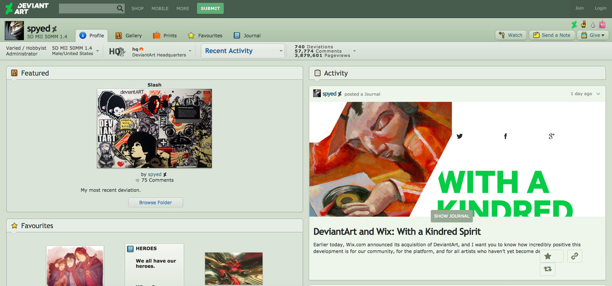Wix Has Acquired Deviantart Which May Let Artists License