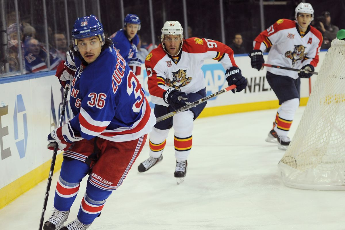 Mats Zuccarello's 'Movember' mustache is in full, and the Rangers forward scored a crucial 5-on-3 goal Sunday night.